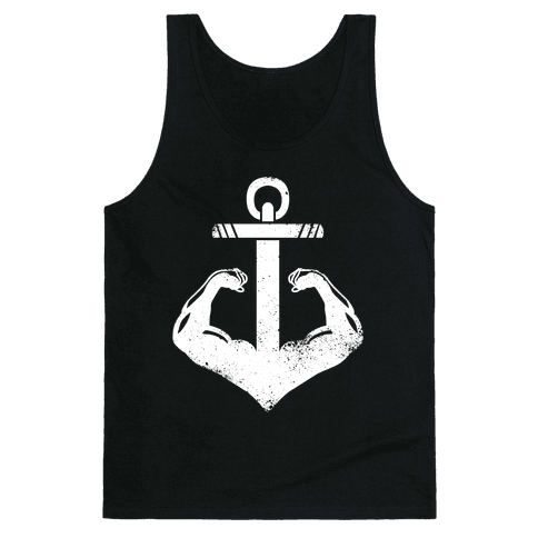 Swole Anchor (White Ink) Tank Top