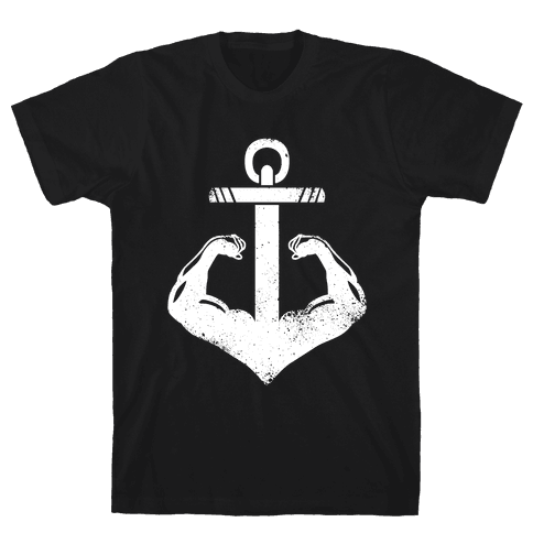 Swole Anchor (White Ink) Mens T-Shirt