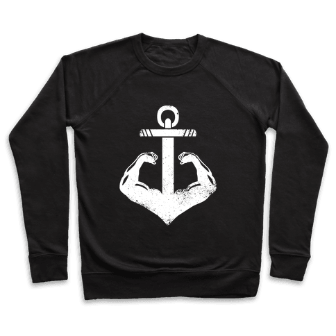 Swole Anchor (White Ink) Pullover