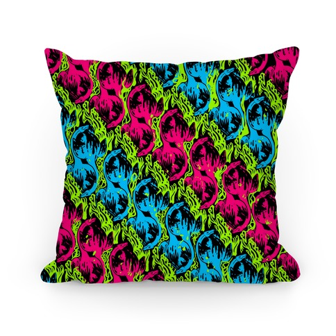 Neon Plesiosaur Pillow