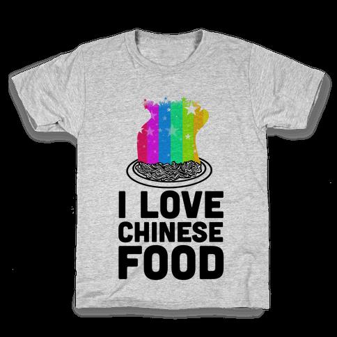 I Love Chinese Food Kids T-Shirt