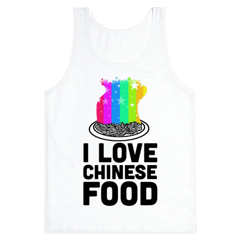 I Love Chinese Food Tank Top