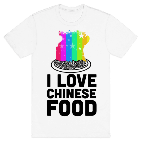 I Love Chinese Food Mens T-Shirt