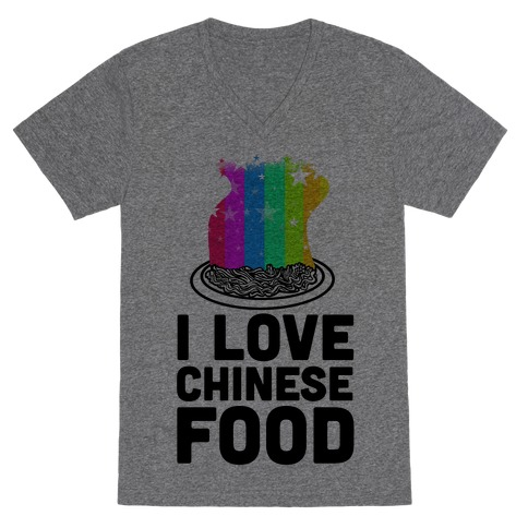I Love Chinese Food V-Neck Tee Shirt