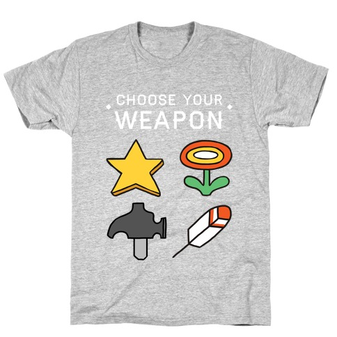 Choose Your Weapon (Mario Bros) Mens T-Shirt