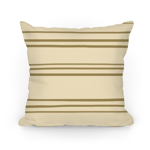 Brown Stripe Pattern Pillow