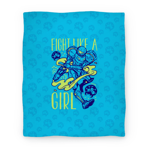 Fight Like A Girl Blanket Samus Parody Blanket