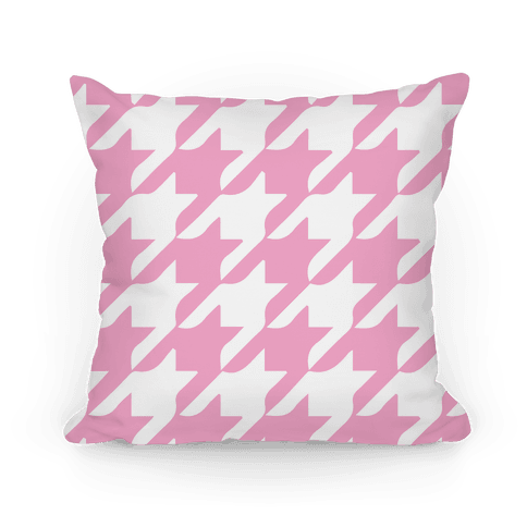 Pink Houndstooth Pillow