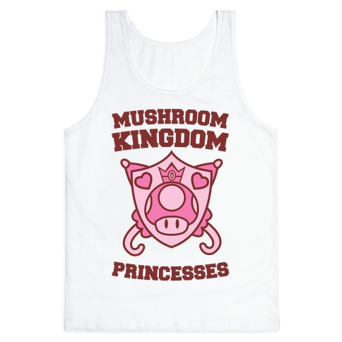 Team Mushroom Kingdom Princesses Tank Top