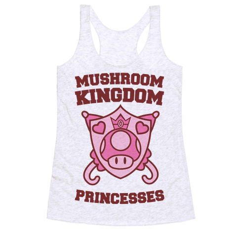 Team Mushroom Kingdom Princesses Racerback Tank Top