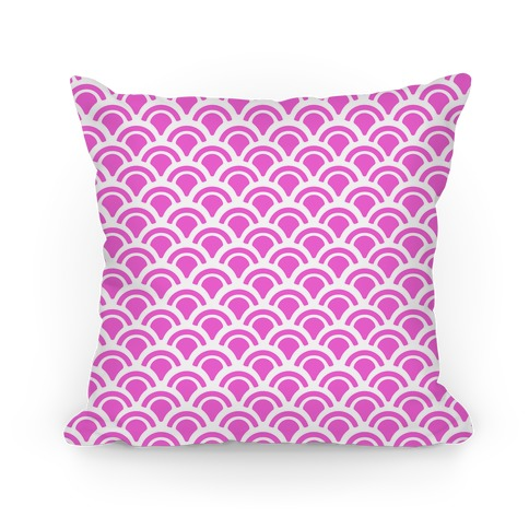 Pink Mermaid Scales Pattern Pillow