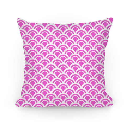 Pink Mermaid Scales Pattern