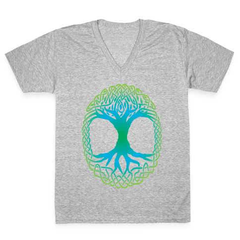 Tree Of Life V-Neck Tee Shirt