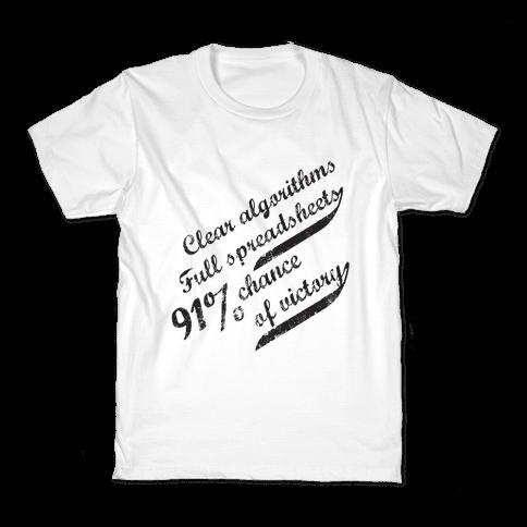 Clear Algorithms, Full Spreadsheets Kids T-Shirt