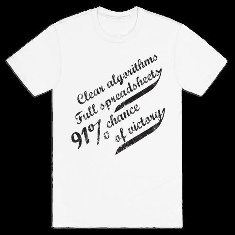 Clear Algorithms, Full Spreadsheets Mens T-Shirt