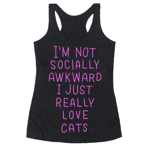 For The Love Of Cats Racerback Tank Top