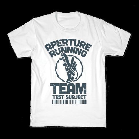 Aperture Running Team  Kids T-Shirt