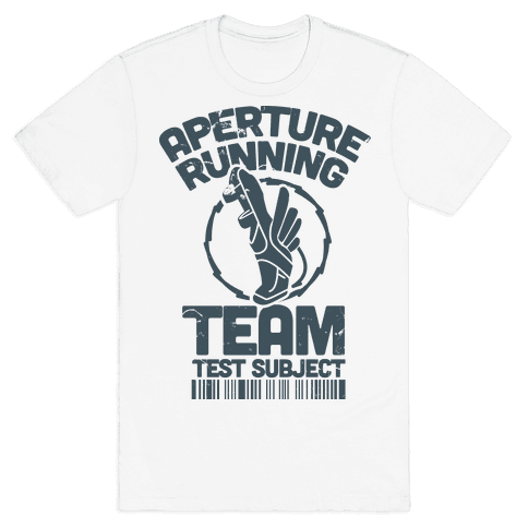 Aperture Running Team  Mens T-Shirt