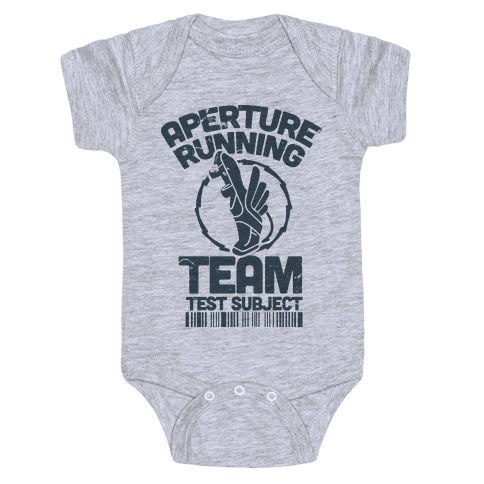 Aperture Running Team  Baby Onesy