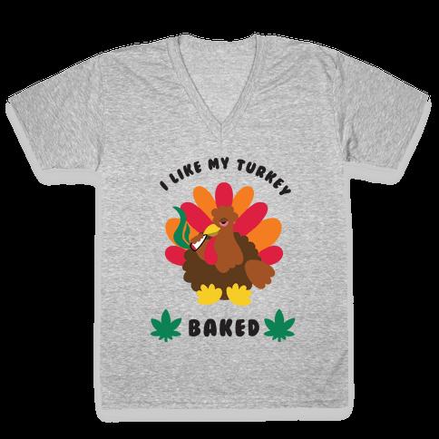 Baked Turkey V-Neck Tee Shirt