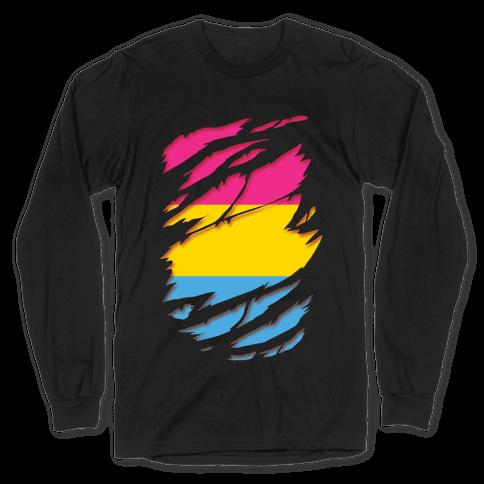Ripped Shirt: Pan Pride Long Sleeve T-Shirt