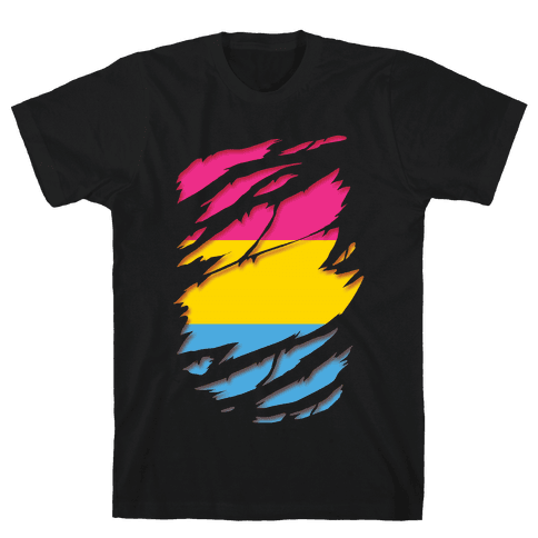 Ripped Shirt: Pan Pride Mens/Unisex T-Shirt