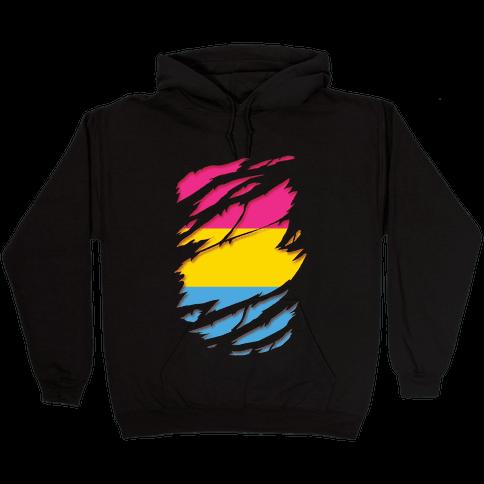 Ripped Shirt: Pan Pride Hooded Sweatshirt