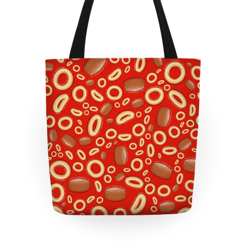 Spaghettios With Franks Pattern Tote