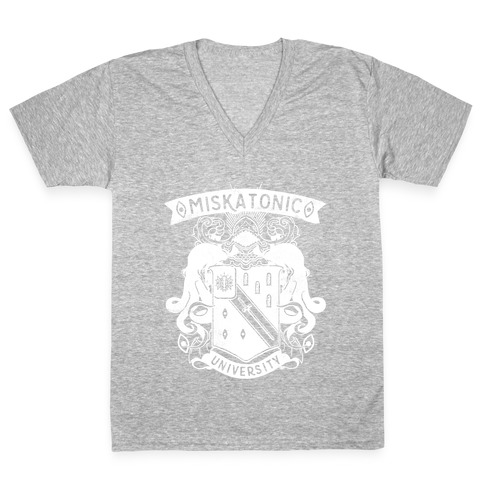 Miskatonic University V-Neck Tee Shirt