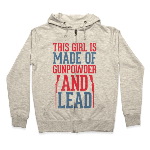 Gunpowder & Lead (Baseball Tee) Zip Hoodie