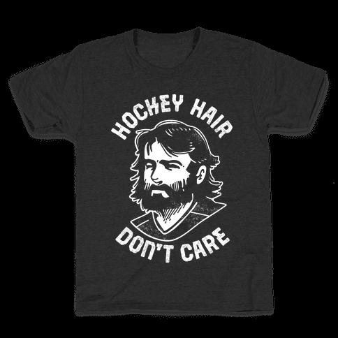 Hockey Hair Don't Care Kids T-Shirt