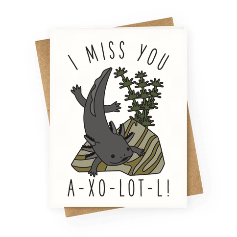 I Miss You A-xo-lot-l Greeting Card