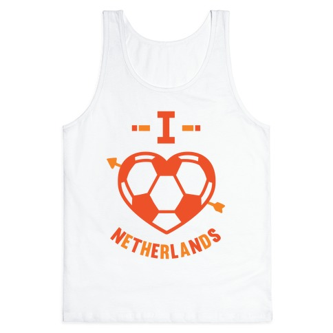 I Love Netherlands (Soccer) Tank Top