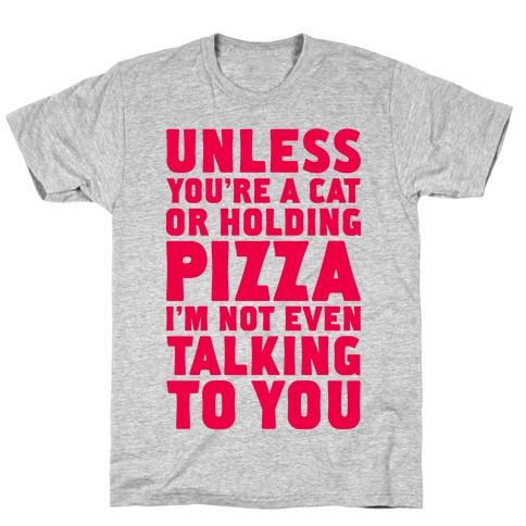 Unless You're A Cat Or Holding Pizza T-Shirt