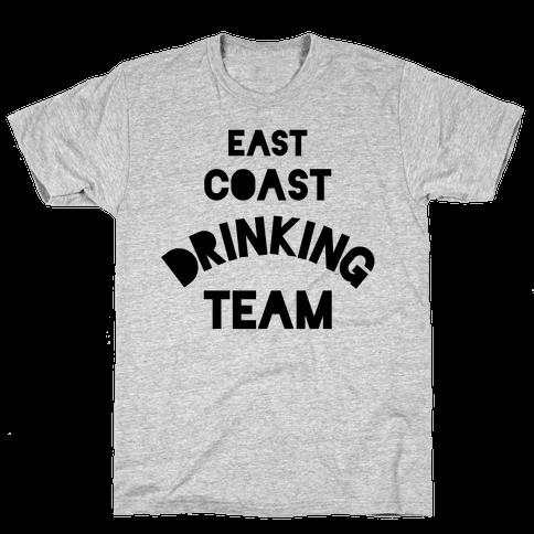 East Coast Drinking Team Mens T-Shirt