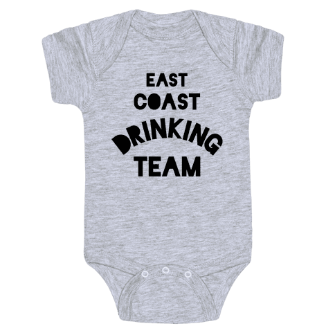East Coast Drinking Team Baby Onesy