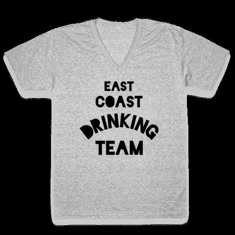 East Coast Drinking Team V-Neck Tee Shirt