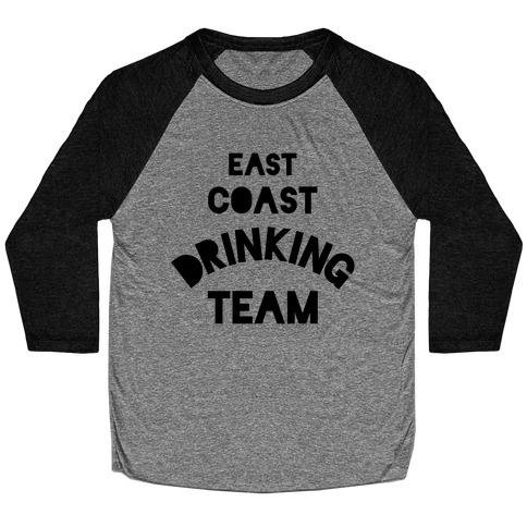 East Coast Drinking Team Baseball Tee
