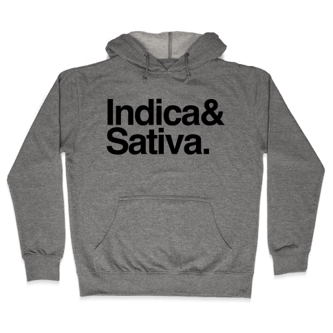 Indica and Sativa Hooded Sweatshirt
