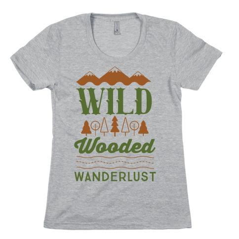 Wild Wooded Wanderlust Womens T-Shirt