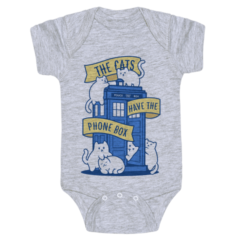 The Cats Have the Phone Box! Baby Onesy
