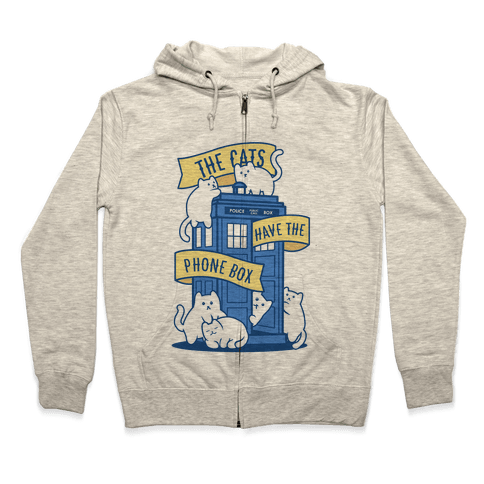 The Cats Have the Phone Box! Zip Hoodie