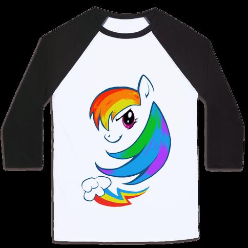 The Rainbow Pony Baseball Tee