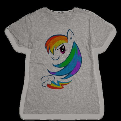 The Rainbow Pony Womens T-Shirt