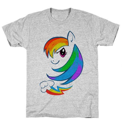 The Rainbow Pony Mens T-Shirt