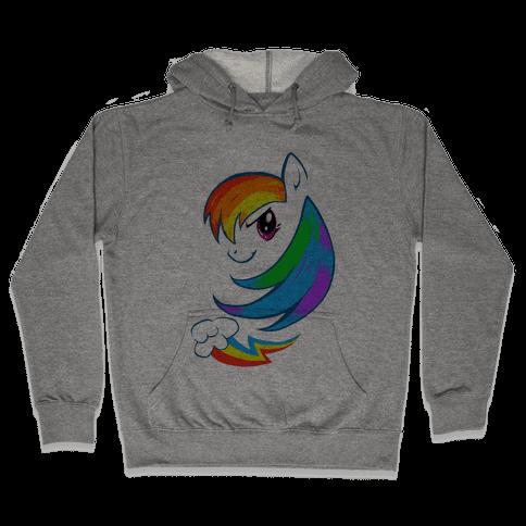 The Rainbow Pony Hooded Sweatshirt