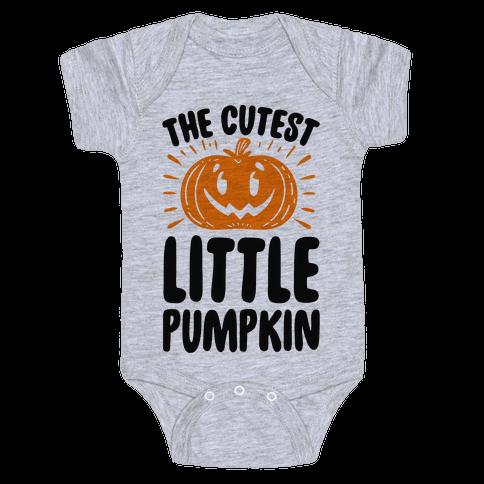 The Cutest Little Pumpkin Baby Onesy