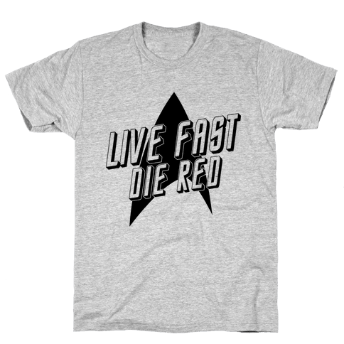 Live Fast, Die Red (Vintage) Mens T-Shirt