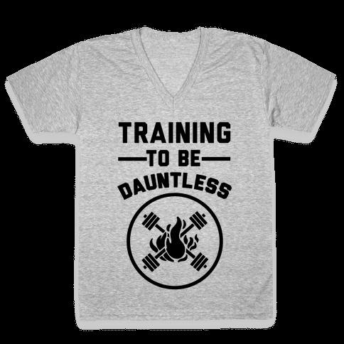 Training To Be Dauntless V-Neck Tee Shirt