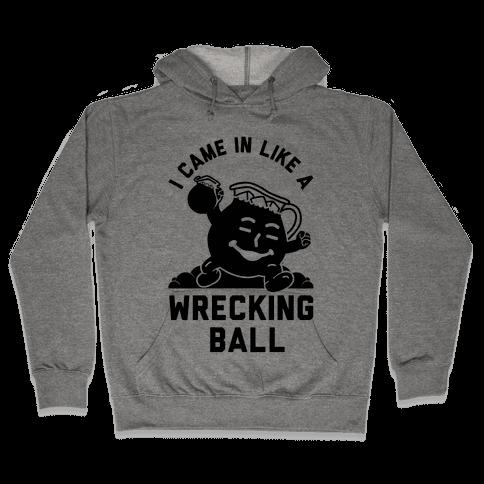 I Came In Like a Wrecking Ball Hooded Sweatshirt